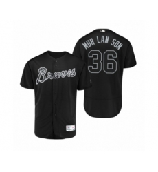 Men Braves #36 Mark Melancon Muh Lan Son Black 2019 Players Weekend Authentic Jersey