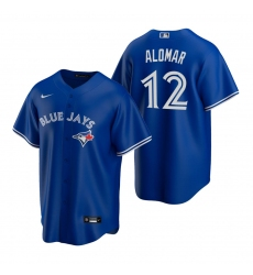 Men's Nike Toronto Blue Jays #12 Roberto Alomar Royal Alternate Stitched Baseball Jersey