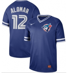 Men's Nike Toronto Blue Jays #12 Roberto Alomar Royal Authentic Cooperstown Collection Stitched Baseball Jersey