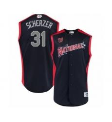 Men's Washington Nationals #31 Max Scherzer Authentic Navy Blue National League 2019 Baseball All-Star Jersey