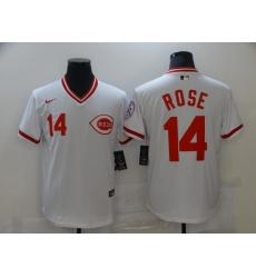 Men's Nike Cincinnati Reds #14 Pete Rose White Jersey