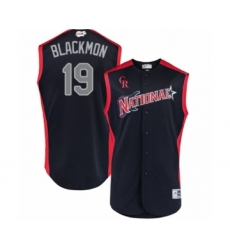 Youth Colorado Rockies #19 Charlie Blackmon Authentic Navy Blue National League 2019 Baseball All-Star Jersey