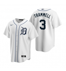 Men's Nike Detroit Tigers #3 Alan Trammell White Home Stitched Baseball Jersey