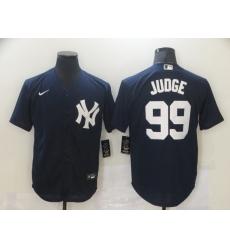 Men's New York Yankees #99 Aaron Judge Authentic Navy Blue Nike MLB Jersey