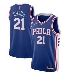 Men's Philadelphia 76ers #21 Joel Embiid Nike Royal 2020-21 Swingman Jersey