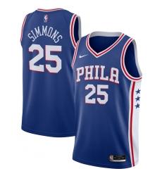 Men's Philadelphia 76ers #25 Ben Simmons Nike Royal 2020-21 Swingman Jersey