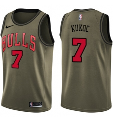 Youth Nike Chicago Bulls #7 Toni Kukoc Swingman Green Salute to Service NBA Jersey