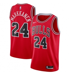 Men's Chicago Bulls #24 Lauri Markkanen Nike Red 2020-21 Swingman Jersey