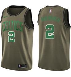 Men's Nike Boston Celtics #2 Red Auerbach Swingman Green Salute to Service NBA Jersey