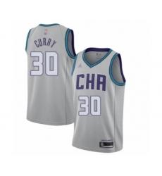 Men's Jordan Charlotte Hornets #30 Dell Curry Swingman Gray Basketball Jersey - 2019 20 City Edition