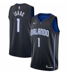Men's Orlando Magic #1 Jonathan Isaac Nike Black 2020-21 Swingman Jersey