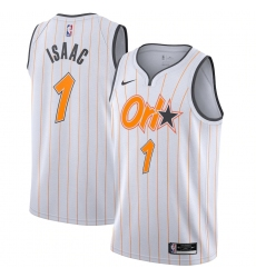 Men's Orlando Magic #1 Jonathan Isaac Nike White 2020-21 Swingman Player Jersey