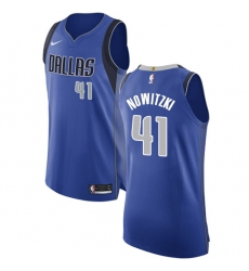 Youth Nike Dallas Mavericks #41 Dirk Nowitzki Authentic Royal Blue Road NBA Jersey - Icon Edition