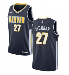 Men's Nike Denver Nuggets #27 Jamal Murray Authentic Navy Blue Road NBA Jersey - Icon Edition