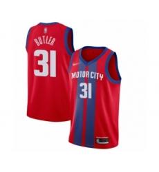 Men's Detroit Pistons #31 Caron Butler Swingman Red Basketball Jersey - 2019 20 City Edition