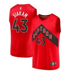 Men's Toronto Raptors #43 Pascal Siakam Fanatics Branded Red 2020-21 Fast Break Replica Player Jersey