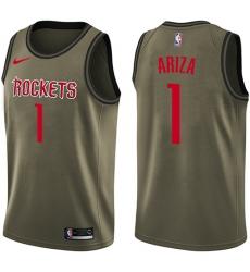 Youth Nike Houston Rockets #1 Trevor Ariza Swingman Green Salute to Service NBA Jersey