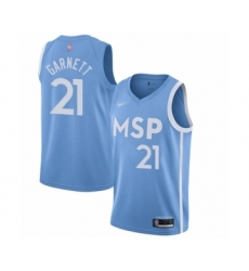 Men's Minnesota Timberwolves #21 Kevin Garnett Swingman Blue Basketball Jersey - 2019 20 City Edition