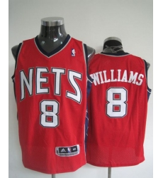 Revolution 30 Nets #8 Deron Williams Red Stitched NBA Jersey
