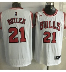 Revolution 30 Bulls #21 Jimmy Butler White Stitched NBA Jersey