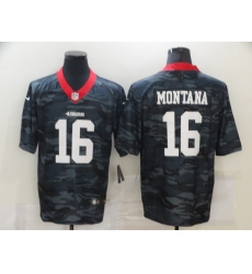 Men's San Francisco 49ers #16 Joe Montana Camo 2020 Nike Limited Jersey