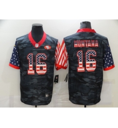 Men's San Francisco 49ers #16 Joe Montana Camo Flag Nike Limited Jersey