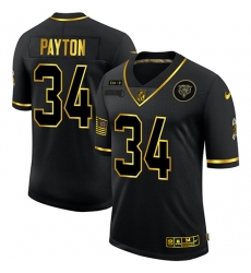 Men's Chicago Bears #34 Walter Payton Olive Gold Nike 2020 Salute To Service Limited Jersey