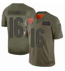 Women's Chicago Bears #16 Pat O'Donnell Limited Camo 2019 Salute to Service Football Jersey