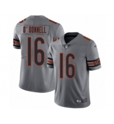 Women's Chicago Bears #16 Pat O'Donnell Limited Silver Inverted Legend Football Jersey