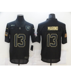 Men's Miami Dolphins #13 Dan Marino Black Nike 2020 Salute To Service Limited Jersey