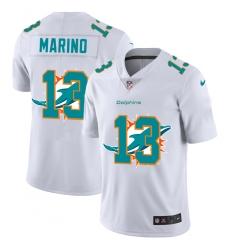 Men's Miami Dolphins #13 Dan Marino White Nike White Shadow Edition Limited Jersey