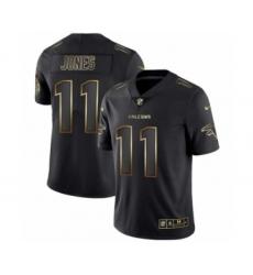 Men Atlanta Falcons #11 Julio Jones Black Golden Edition 2019 Vapor Untouchable Limited Jersey