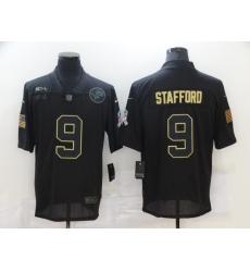 Men's Detroit Lions #9 Matthew Stafford Black Nike 2020 Salute To Service Limited Jersey