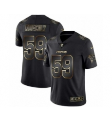 Men Carolina Panthers #59 Luke Kuechly Black Golden Edition 2019 Vapor Untouchable Limited Jersey
