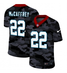 Men's Carolina Panthers #22 Christian McCaffrey Camo 2020 Nike Limited Jersey