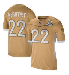 Men's Carolina Panthers #22 Christian McCaffrey Nike Gold 2020 NFC Pro Bowl Game Jersey