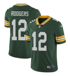 Men's Nike Green Bay Packers #12 Aaron Rodgers Green Team Color Vapor Untouchable Limited Player NFL Jersey