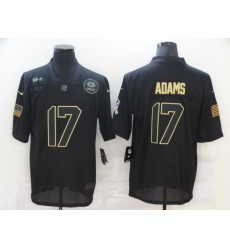 Men's Green Bay Packers #17 Davante Adams Black Nike 2020 Salute To Service Limited Jersey