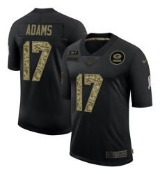 Men's Green Bay Packers #17 Davante Adams Camo 2020 Salute To Service Limited Jersey