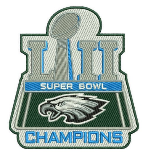 Stitched Philadelphia Eagles Super Bowl LII 52 Champions Jersey Patch