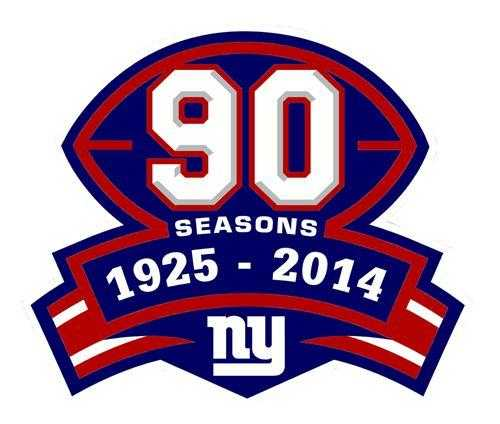Stitched NFL New York Giants 1925-2014 Season Jersey Patch